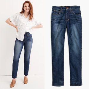 NEW Madewell Slim Straight Jeans William Wash 32